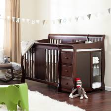 Newborn Bedroom Furniture Furniture Cherry Wood Crib With Changing Table Crib Furniture