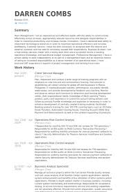 Client Service Manager Cv Examples Resume Samples For Customer