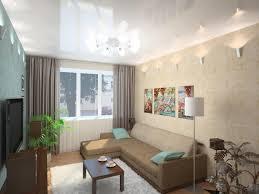 Woonkamer Ontwerp Van Appartementen Met Begaanbare Kamers