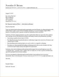Academic Cover Letter Sample Template Magnificent Financial Analyst Cover Letter Sample Monster