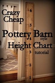 How To Make Your Own Pottery Barn Style Height Chart For