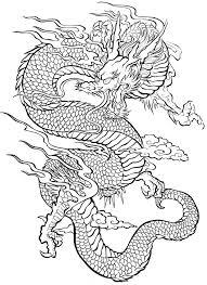 Free Coloring Page Coloring Tatouage Dragon An Impressive Dragon