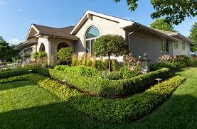 Front Yard Landscape Design  Hedges