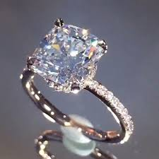 the diamonds on insram of course she said yes a cushion cut beauty from laurenbjewelry
