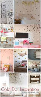 Polka Dot Bedroom Decor 17 Best Ideas About Gold Dots On Pinterest Polka Dot Walls