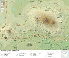 filemount kilimanjaro and mount meru mapfr  wikimedia commons