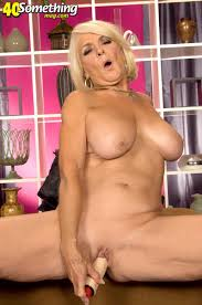 Georgette mature blonde 40something