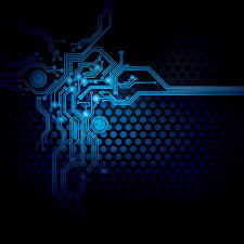 Circuit Design On Digital Background Vector Image 1647006