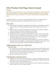 Mlaworkscitedpagebasicformat Citation Writing