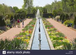 spring c garden and fountain at daniel stowe botanical garden belmont north ina