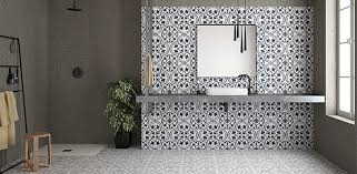 if you re feeling more adventurous why not opt for pattern on both the walls and the floor showing the cuban silver ornate tile on the floor and the white