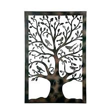metal wall art outdoor use wrought iron tree wall art large metal of life decor artwork w outdoor use