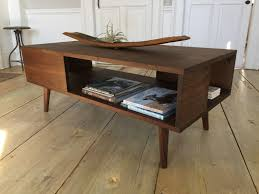 Wood Modern Coffee Table Fat Boy Mid Century Modern Coffee Table With Storage Featuring