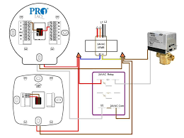 wiring pro1 t955wh wireless thermostat doityourself com this is a 2 wire power open spring closed example using a relay