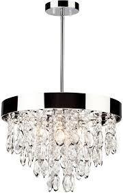 artcraft ac10111 elegante modern chrome halogen mini chandelier lamp loading zoom