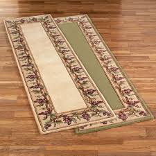 Rug Runners For Kitchen Kitchen Area Rugs With Grapes Grapes Napa Border Rug Runner Is