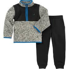 Nautica Infant Boys 2 Pc Sweater Fleece Set Baby Boy 0 24