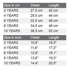 Kids Cloth Size Chart Hotrod Hellcat Size Chart