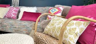 boho chic style decor with pink and