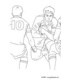Coloriages Coloriage D Un Ballon De Rugby Fr Hellokids Com