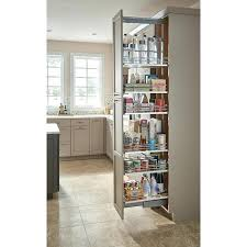 sliding pantry with non slip baskets slide out kitchen shelves home depot
