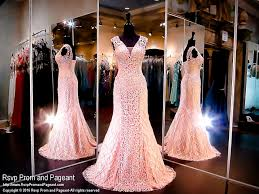 Blush Pink Lace Mermaid Evening Gown Cap Sleeves 116nc090730 At