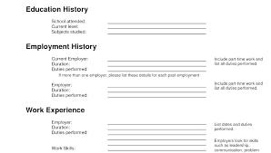 Blank Resume Forms To Print Resume Blank Templates Free Blank Resume Templates To Print