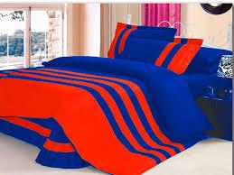 xmas 14 6 pc stripped twin orange royal blue duvet quilt cover