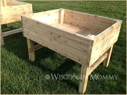 design plans for raised garden beds building with legs in seattle build elevated diy waist high