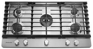 5 burner gas cooktop snless steel