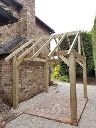 wooden garden shelter frame gazebo hot tub