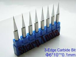 cnc router bits. 10 angle 6x 0.1mm 3-edge carbide cnc router bits wood cutter tools, cnc h