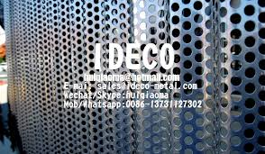 architectural corrugated perforated metal panels radiused wavery perforated sheet metal for facade claddings