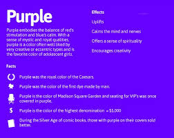 Colourful Emotions effects of purple colour