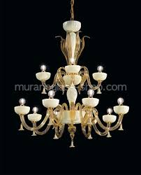12 lights chandelier in crystal and 24k gold
