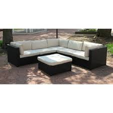 Outdoor Furniture Sectional Sofa Set with Cushions