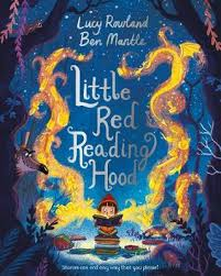 the story of little red riding hood gets an inventive original reworking in this lively picture book little red reading hood is never happier than with