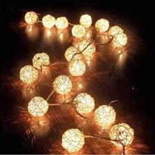 Buy Aotosolo 13 8ft 4m 40led Wooden Rattan Ball String Light