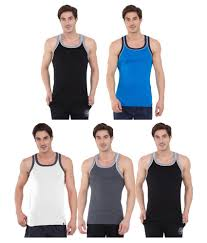 Jockey Multi Sleeveless Vests Pack Of 5