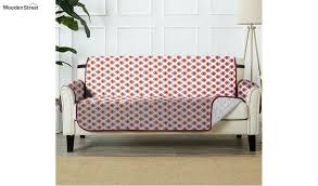 pink quilted 2 seater sofa cover