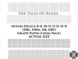 Miyuki Delica Beading Graph Paper Actual Size Seed Bead Etsy