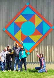 PEC Barn Quilt Trails - Prince Edward County Barn Quilt Trails & The team from Sandbanks Winery and volunteers from the PEC Barn Quilt Trails  celebrate Sandbank's latest addition to their growing Barn Quilt Collection! Adamdwight.com