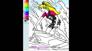 Small Picture Barbie Games Barbie Coloring Pages Online YouTube