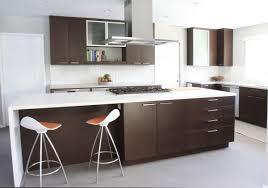 Grand Interior Design Of Mid Century Modern Kitchen With Cabinet Also Lush  Bar Stool