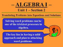 translating problems into equations and solutions