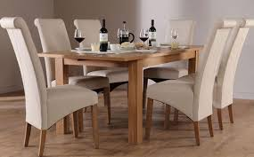 dining room oak kitchen table solid oak dining table and 8 chairs cream chairs and