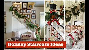 Christmas Staircase Decorating Ideas | Holiday Decorating Ideas