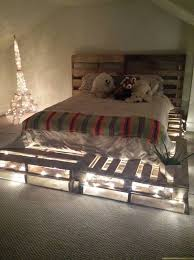 astounding wood pallet bed frame with lights 15 about remodel home remodel ideas with wood pallet bed frame with lights