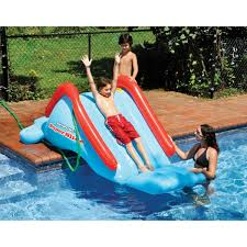 swimline superslide inflatable in ground pool water slide by com