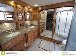 Luxury By Design Rv Luxury Rv Bathroom Stock Photo Image 38800319